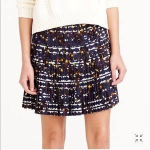 MOVING SALE//J. Crew • Hidden Floral Pleated Skirt